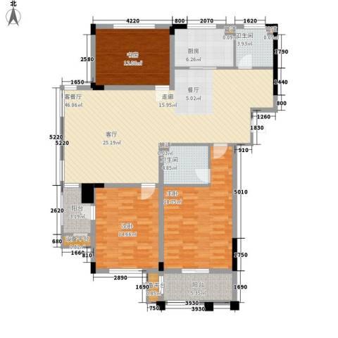莱茵苑3室1厅2卫1厨132.00㎡户型图