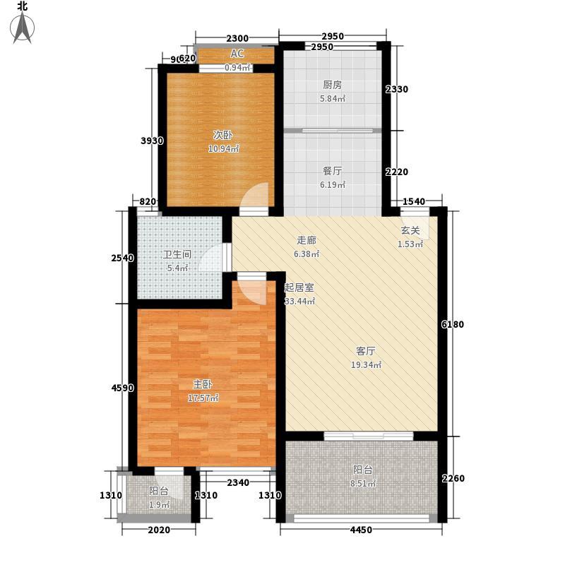 华夏青城95.00㎡华夏青城户型图2室户型图2室2厅1卫1厨户型2室2厅1卫1厨