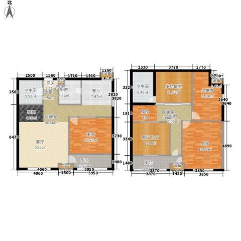 鄂州豪威城市广场3室0厅2卫1厨178.00㎡户型图