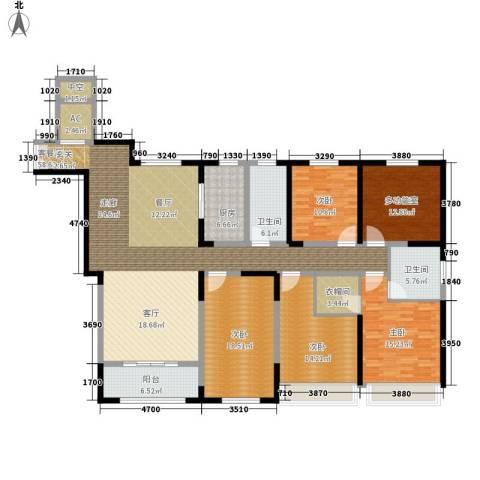 宝华和天下4室1厅2卫1厨185.00㎡户型图
