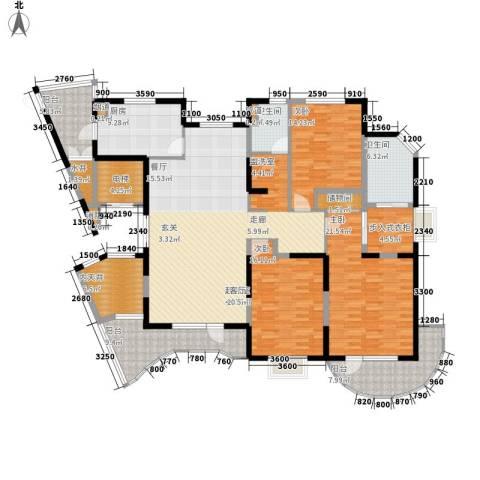 五洲华府3室0厅2卫1厨233.00㎡户型图