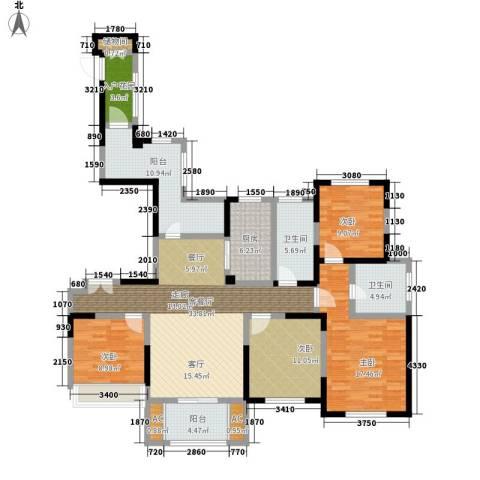 宝华和天下4室1厅2卫1厨140.00㎡户型图