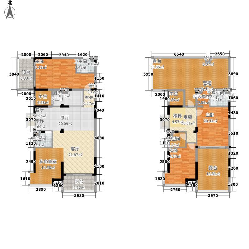 三永银河海湾三永银河海湾1、2、3栋A户型(跃层)4室2厅户型10室