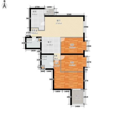 电子城小区3室0厅2卫1厨132.00㎡户型图