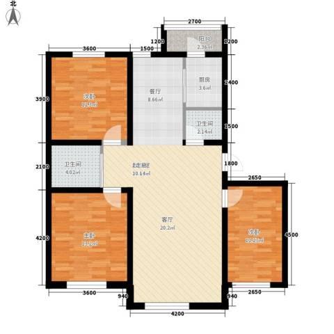 伟邦龙嘉小镇3室0厅2卫1厨116.00㎡户型图