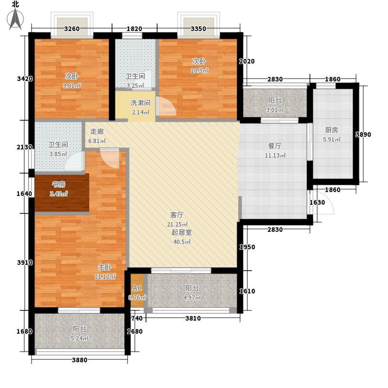 美和天著123.00㎡美和天著户型图G2反面3室2厅2卫1厨户型3室2厅2卫1厨