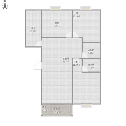 枫桥水岸3室1厅1卫1厨118.00㎡户型图