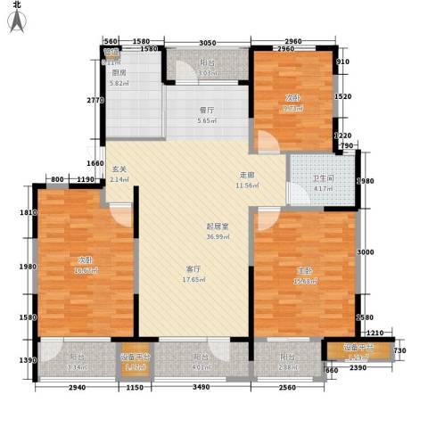 正源吉祥e家祥福园3室0厅1卫1厨146.00㎡户型图