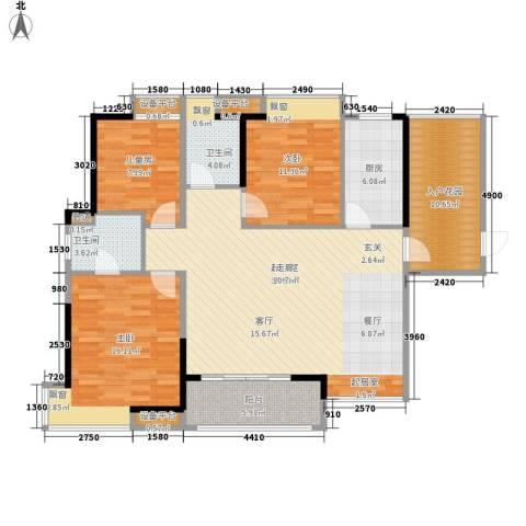 鼎峰花漫里3室0厅2卫1厨150.00㎡户型图