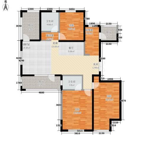 正源吉祥e家祥福园3室0厅2卫0厨128.09㎡户型图