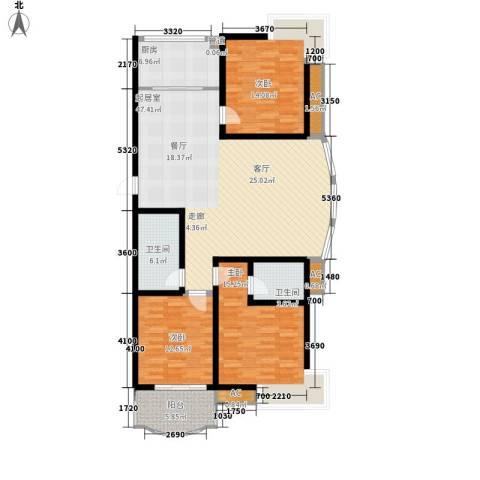 安康北苑3室0厅2卫1厨163.00㎡户型图