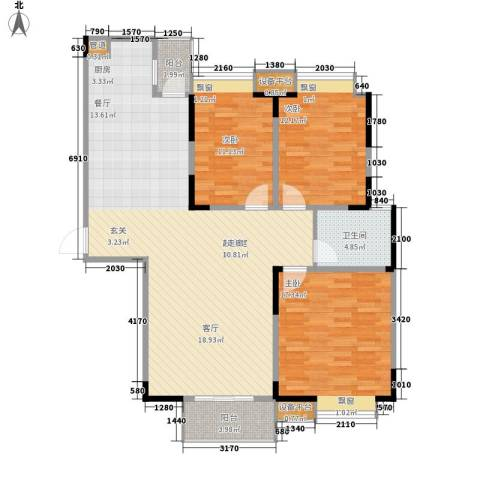 金浦名城世家3室0厅1卫0厨114.00㎡户型图