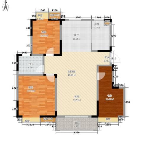 金浦名城世家3室0厅1卫1厨111.00㎡户型图