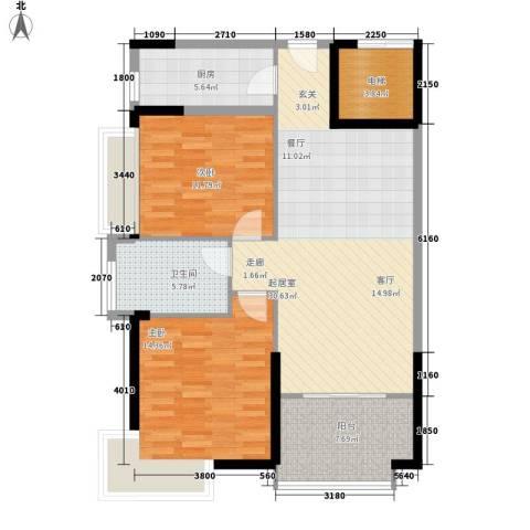 富康豪庭二期2室0厅1卫1厨230.00㎡户型图