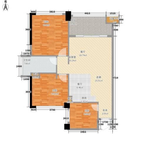 美亚之心3室0厅1卫0厨148.00㎡户型图
