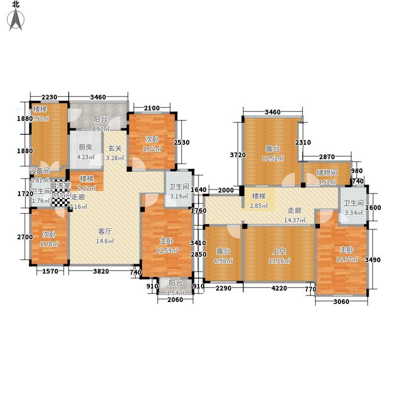 长河湾165.42㎡长河湾户型图C104室2厅3卫户型4室2厅3卫