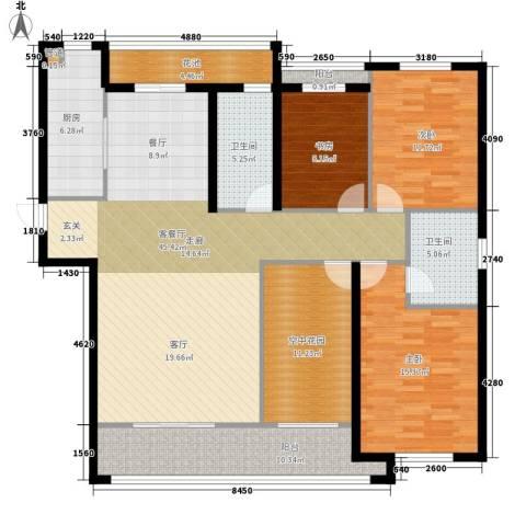 祥瑞东方城3室1厅2卫1厨151.00㎡户型图