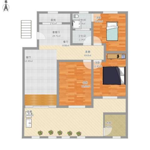 汇集小区4室1厅2卫1厨142.00㎡户型图