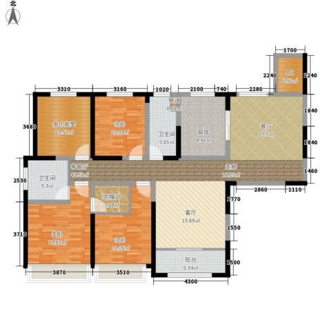 宝华和天下3室1厅2卫1厨142.70㎡户型图