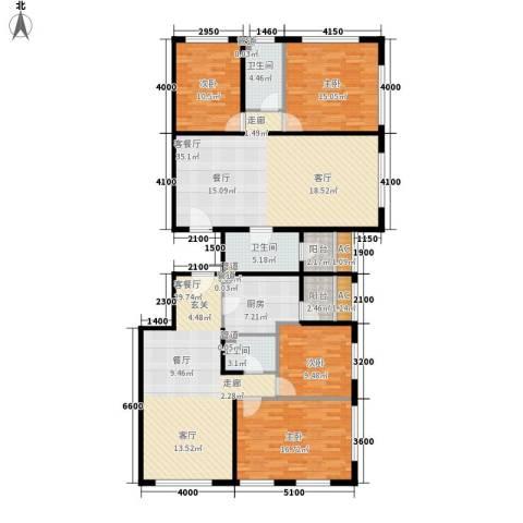 唐宁ONE4室2厅3卫1厨200.00㎡户型图