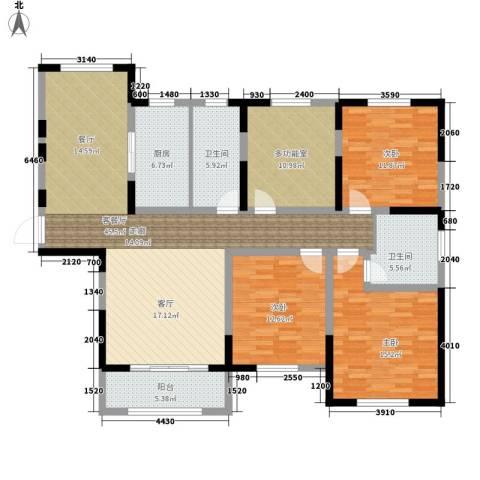 宝华和天下3室1厅2卫1厨137.00㎡户型图