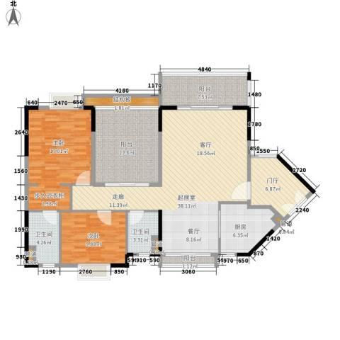 丽冠雅居2室0厅2卫1厨125.00㎡户型图