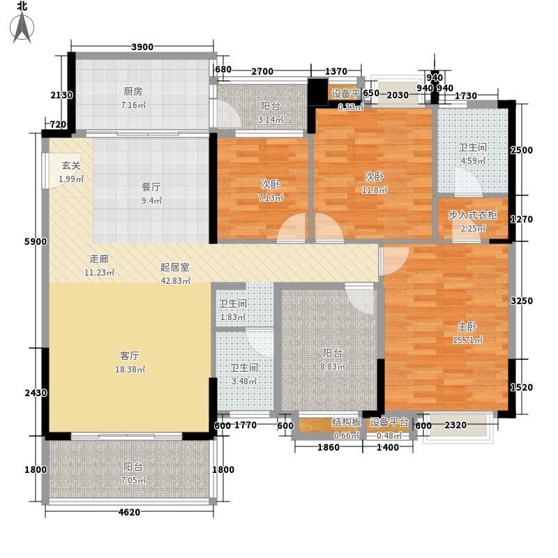 御品泰景116.00㎡御品泰景户型图13栋14栋01户型3室2厅1卫1厨户型3室2厅1卫1厨