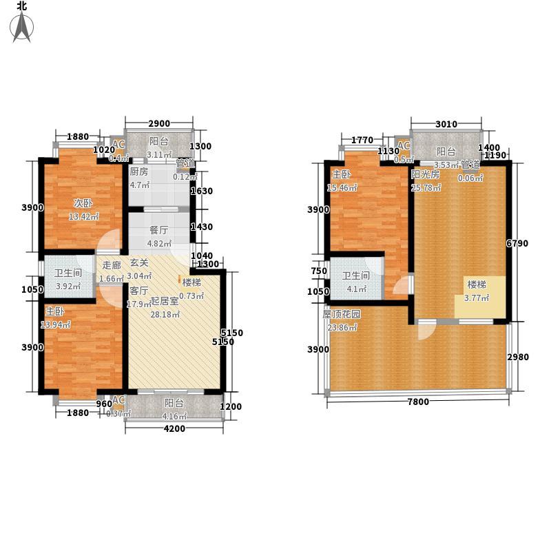 美丽庭院143.92㎡C跃户型4室2厅2卫1厨