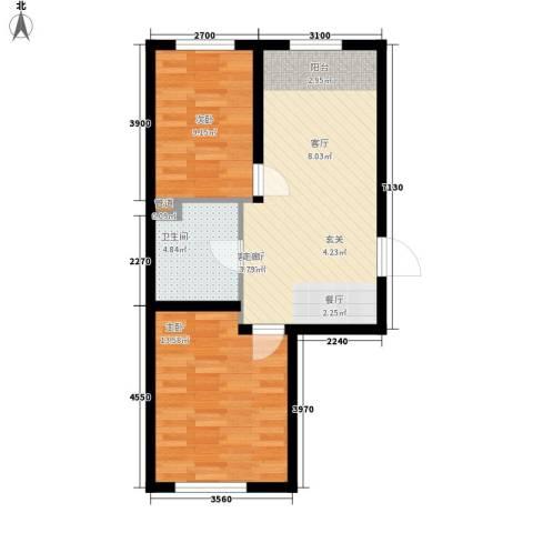 云峰小区2室1厅1卫0厨69.00㎡户型图