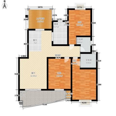 康湖山庄3室1厅2卫1厨167.00㎡户型图