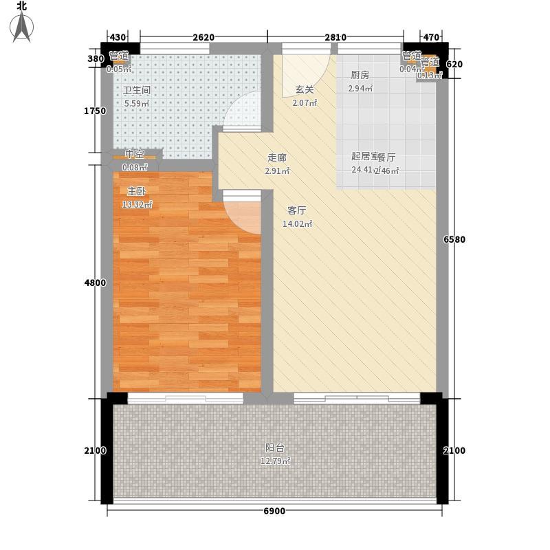 碧桂园・珊瑚宫殿8.32㎡海景公寓A3/A3反户型1室2厅1卫
