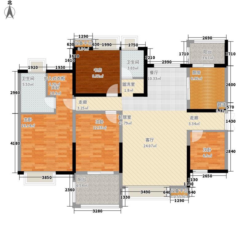 东苑小区E154.00㎡户型4室2厅2卫1厨