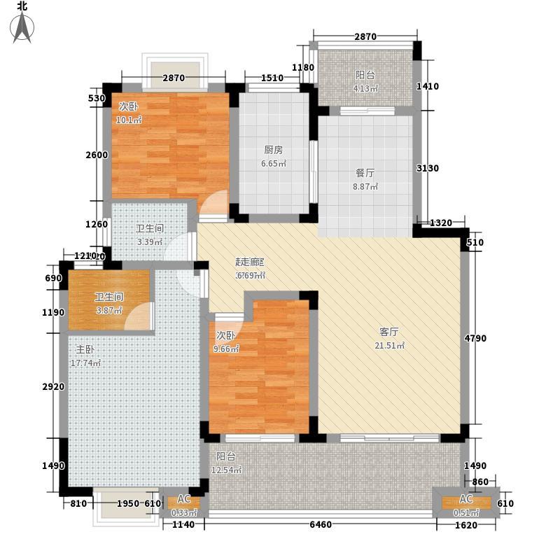 北环阳光124.00㎡北环阳光户型图B13室2厅2卫1厨户型3室2厅2卫1厨