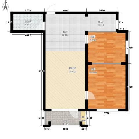 波菲蓝岛项目2室0厅1卫0厨97.00㎡户型图