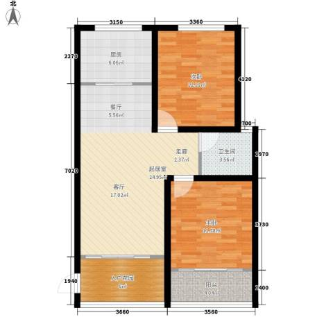金鼎旺座2室0厅1卫1厨78.00㎡户型图