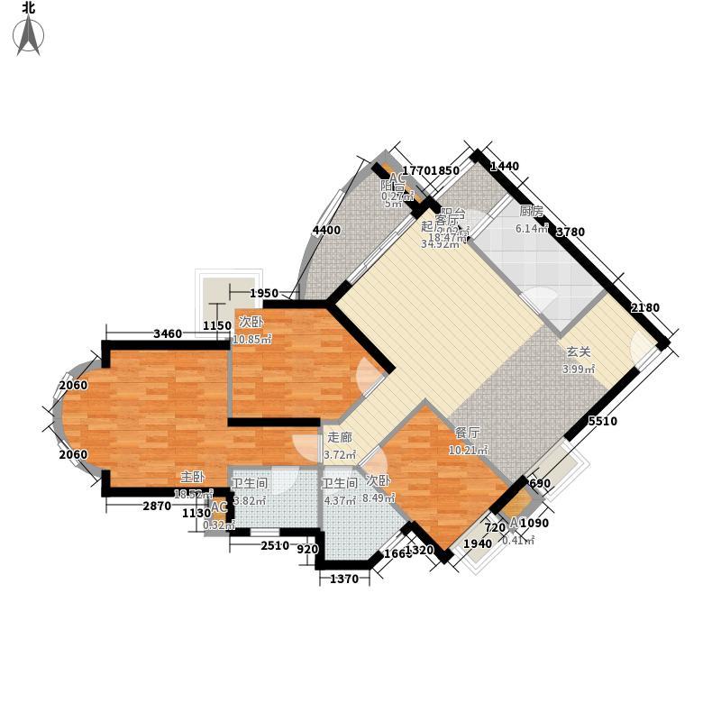 雍华庭四期156.00㎡雍华庭四期3室户型3室