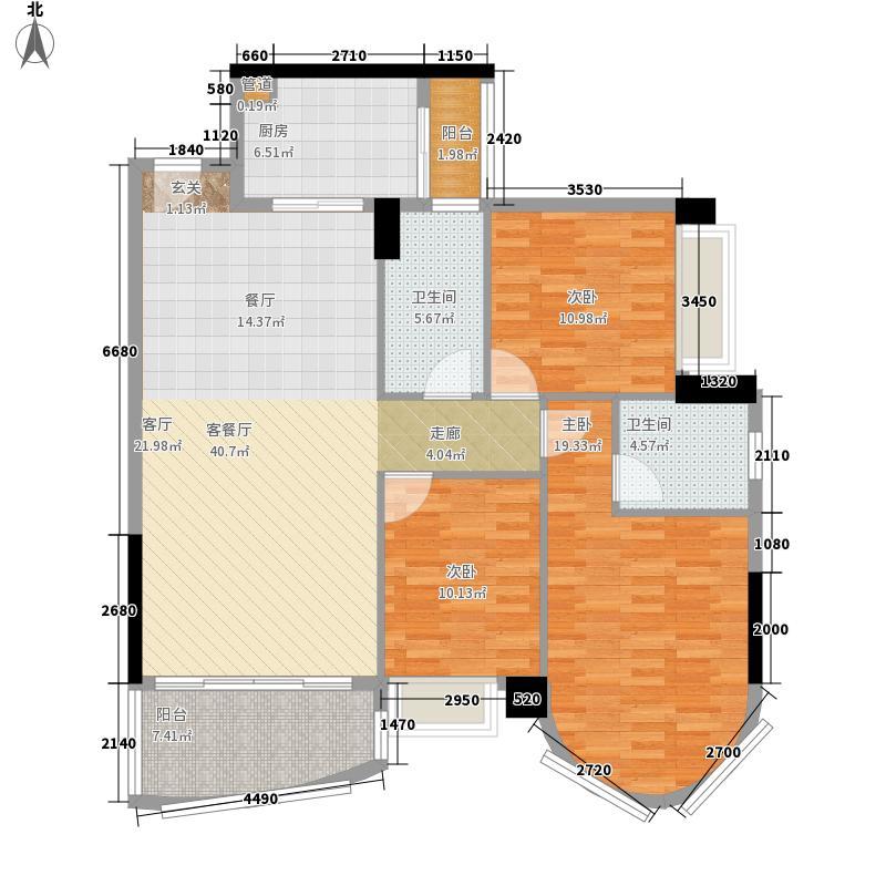 星晖园120.00㎡星晖园3室户型3室
