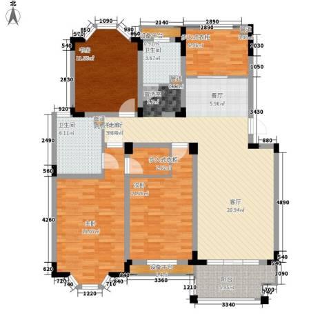 莱茵苑3室1厅2卫0厨127.00㎡户型图