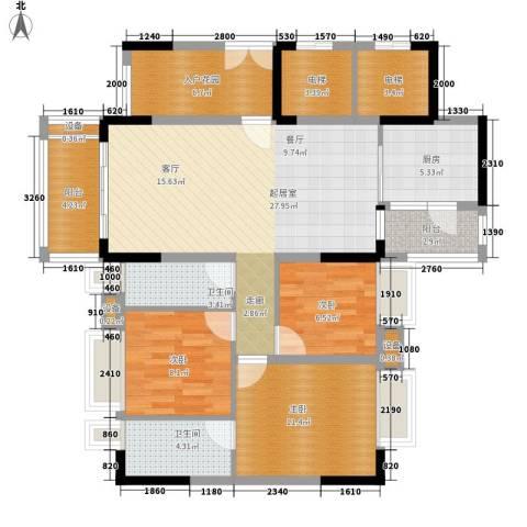 保利中环广场3室0厅2卫1厨139.00㎡户型图