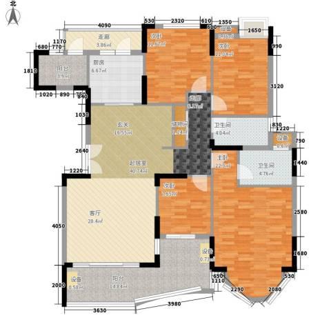 星晖园4室0厅2卫1厨165.00㎡户型图