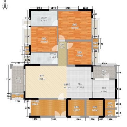 保利中环广场3室1厅2卫1厨139.00㎡户型图