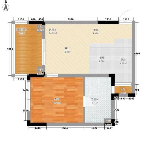 石梅山庄1室0厅1卫0厨65.00㎡户型图
