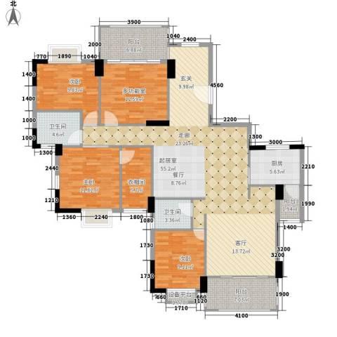 富盈山水华府别墅3室0厅2卫1厨170.00㎡户型图