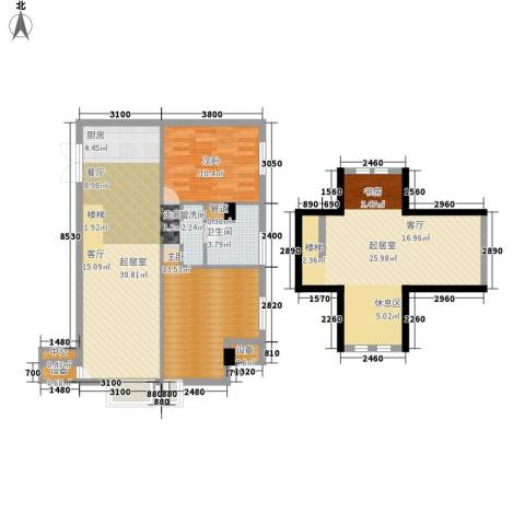 同润青年汇2室0厅1卫0厨99.00㎡户型图