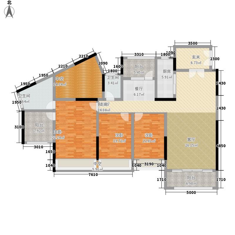 荔海春城花园163.00㎡荔海春城花园户型图3栋B1户型5室2厅2卫1厨户型5室2厅2卫1厨
