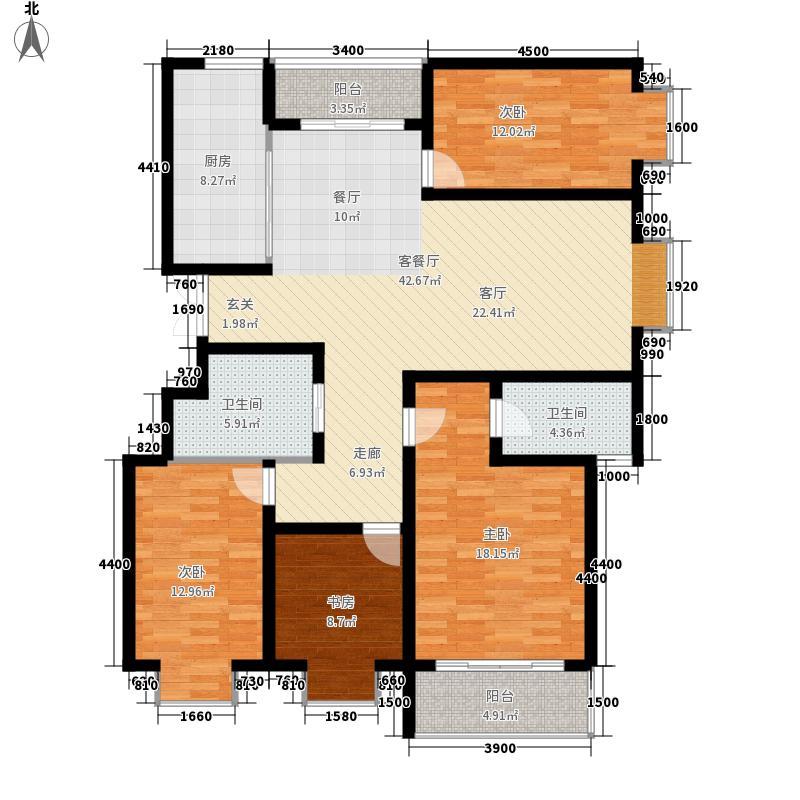 紫金城149.23㎡紫金城户型图一期4号楼E2户型4室2厅2卫1厨户型4室2厅2卫1厨