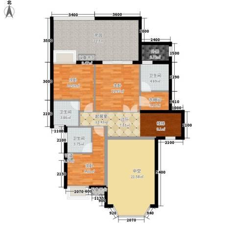 富盈山水华府别墅3室0厅3卫0厨281.00㎡户型图