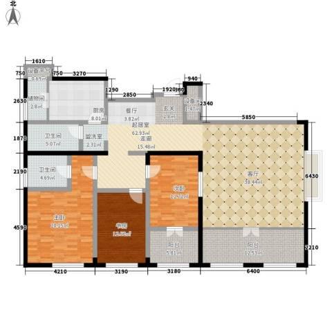 银座晶都国际3室0厅2卫1厨181.00㎡户型图