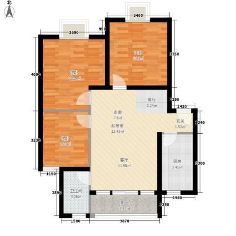 翡翠园3室0厅1卫1厨77.00㎡户型图