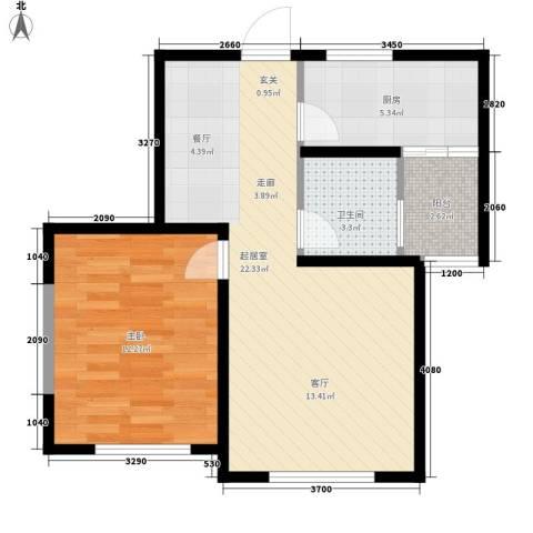上城左岸1室0厅1卫1厨65.00㎡户型图